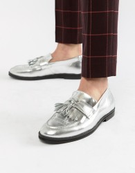 House Of Hounds Archer loafers in silver metallic - Silver