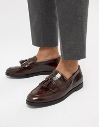 House Of Hounds Archer tassel loafers in burgundy - Red