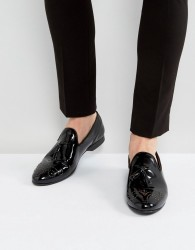 House Of Hounds Arthur Patent Loafers In Black - Black