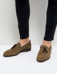 House Of Hounds Bain Tassel Loafers In Khaki - Green