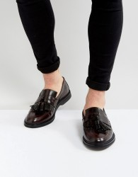 House Of Hounds Dexie Leather Tassel Loafers In Burgundy - Red