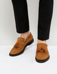House Of Hounds Dexie Suede Tassel Loafers - Tan
