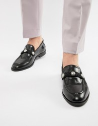 House Of Hounds Sparrow loafers in black weave - Black
