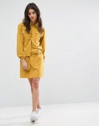 House Of Sunny Mini Skirt With Ring Detail Co-Ord - Yellow
