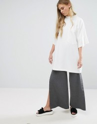 House Of Sunny Wide Leg Popper Pant - Grey