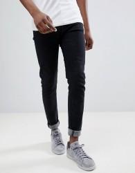 Hoxton Denim Black Skinny Jeans - Black