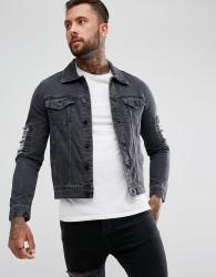 Hoxton Denim Denim Jacket - Black