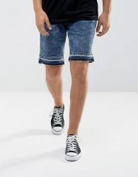 Hoxton Denim Denim Shorts in Washed Blue - Blue