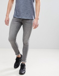 Hoxton Denim Extreme Skinny Jeans in Mid Grey - Grey