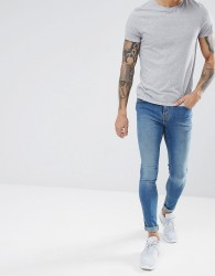 Hoxton Denim Extreme Skinny Jeans in Mid Wash Blue - Blue