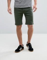 Hoxton Denim Forest Green Chino Shorts - Green