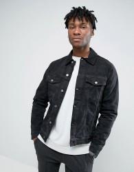 Hoxton Denim Jacket Camo Denim - Black