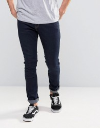 Hoxton Denim Jeans Whiskers Oil Wash Slim Jean - Blue