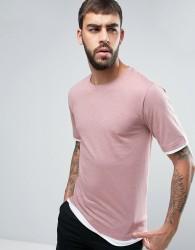 Hoxton Denim Layered T-Shirt - Pink