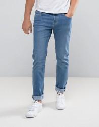 Hoxton Denim Light Vintage Stone Wash Skinny Jeans - Blue