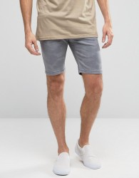 Hoxton Denim Shorts Grey Camo - Grey