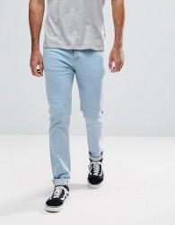 Hoxton Denim Skinny Fit Jeans in Light Bleach - Blue