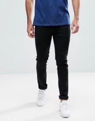 Hoxton Denim Skinny Jeans in Black - Black
