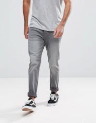 Hoxton Denim Skinny Jeans in Mid Grey - Grey