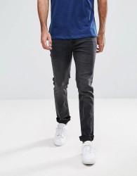 Hoxton Denim Slim Fit Jeans in Washed Black - Black