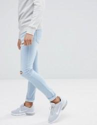 Hoxton Denim Super Skinny Ice Wash Jeans - Blue
