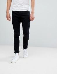 Hoxton Denim Super Skinny Jeans in Black - Black