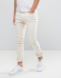 Hoxton Denim Super Skinny Jeans in Dusty Pink - Pink