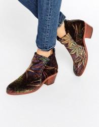 Hudson London Apisi Liberty Velvet Mid Ankle Boots - Multi