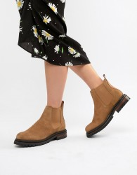 Hudson London Camel Suede Chunky Chelsea Boots - Beige