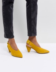 Hudson London Dorothea Yellow Suede Sling Back Shoes - Yellow