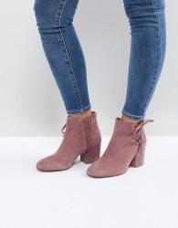 Hudson London Else Pink Suede Ankle Boots - Pink