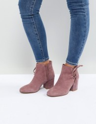 Hudson London Else Pink Suede Ankle Boots - Pink