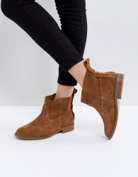 Hudson London Odina Tan Suede Ankle Boots - Tan