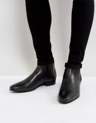Hudson London Zelus Leather Chelsea Boots In Black - Black