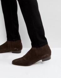 Hudson London Zelus Suede Chelsea Boots In Brown - Brown