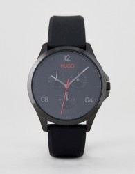 HUGO 1530034 Risk silicone strap watch in black - Black