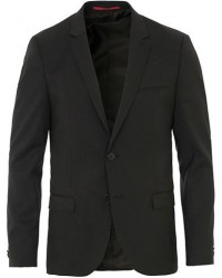 HUGO AlisterS Stretch Wool Blazer Black men 46 Sort