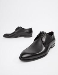 HUGO Appeal Derby Leather Shoes in Black - Black