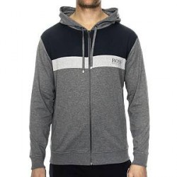 Hugo Boss Homeleisure Jacket Hooded - Grey - Large