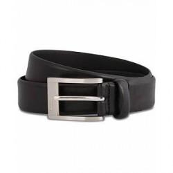 HUGO C-Brandon Leather Belt 3 cm Black