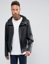Hunter Hooded Raincheater Jacket in Black - Black