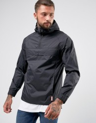 Hunter Lightweight Half Zip Jacket in Black - Black