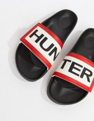 Hunter Logo Sliders In Black - Black