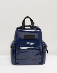 Hunter Original Aurora Borealia Leather Mini Backpack - Navy