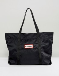 Hunter Original Black Nylon Tote Bag - Black