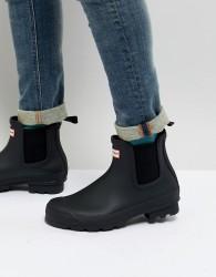 Hunter Original Chelsea Boots In Black - Black