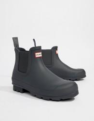 Hunter Original Chelsea Boots In Grey - Grey