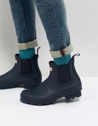 Hunter Original Chelsea Boots In Navy - Navy