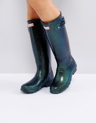 Hunter Original Neptune Starcloud Tall Wellington Boots - Navy
