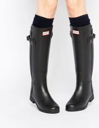 Hunter Original Refined Back Strap Black Wellington Boots - Black